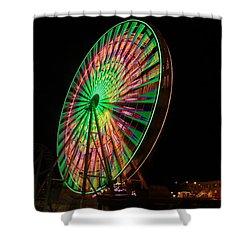 Ocean City Ferris Wheel Shower Curtain