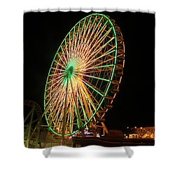 Ocean City Ferris Wheel3 Shower Curtain