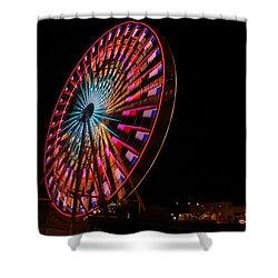 Ocean City Ferris Wheel6 Shower Curtain