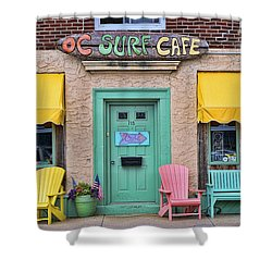 Ocean City N J Surf Cafe Shower Curtain