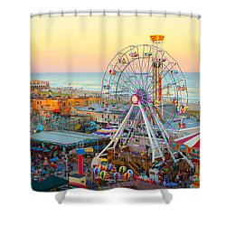 Ocean City New Jersey Boardwalk And Music Pier Shower Curtain