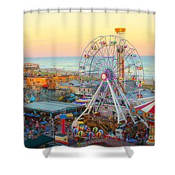 Ocean City New Jersey Boardwalk Shower Curtain