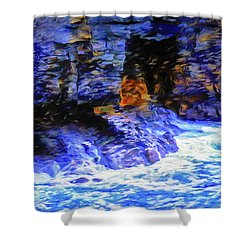Ocean Cliffs Shower Curtain