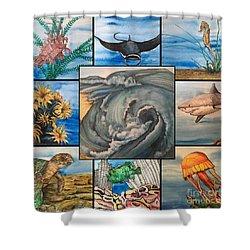 Ocean Collage #1 Shower Curtain