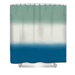 Ocean Colors - Sq Block Shower Curtain