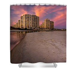 Ocean Creek Panoramic Shower Curtain by David Smith