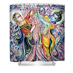 Ocean Dance Shower Curtain by Harsh Malik