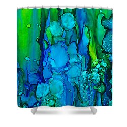 Shower Curtain featuring the painting Ocean Depths by Nikki Marie Smith