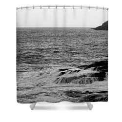 Ocean Drive Shower Curtain by Greg DeBeck