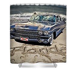 Ocean Drive Shower Curtain by Joachim G Pinkawa