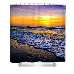 Ocean Drive Sunrise Shower Curtain by David Smith