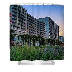 Ocean Drive Sunrise North Myrtle Beach Shower Curtain by David Smith