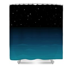Ocean - Elements - Starry Night Shower Curtain by Val Arie