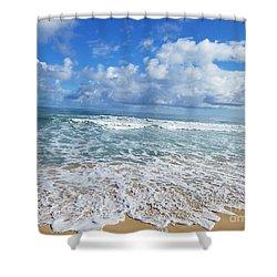 Ocean Foam Shower Curtain