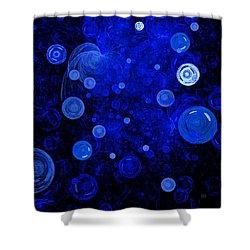 Shower Curtain featuring the digital art Ocean Gems by Menega Sabidussi