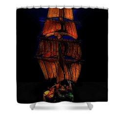 Ocean Glow Shower Curtain by Michael Cleere
