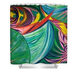 Ocean Graffiti Shower Curtain