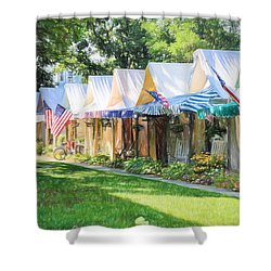 Ocean Grove Tents Sketch Shower Curtain