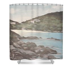 Ocean Inlet Landscape Shower Curtain