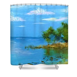 Shower Curtain featuring the photograph Ocean Island by Mary Timman