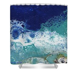 Shower Curtain featuring the painting Ocean by Jamie Frier