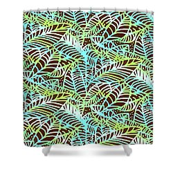 Ocean Leaves Key West Shower Curtain