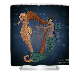 Shower Curtain featuring the digital art Ocean Lullaby1 by Megan Dirsa-DuBois