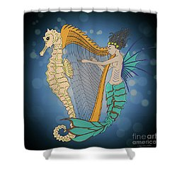 Shower Curtain featuring the digital art Ocean Lullaby3 by Megan Dirsa-DuBois