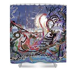 Ocean Shower Curtain by Marko Mitic