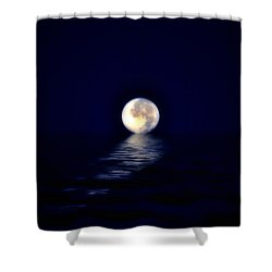 Ocean Moon Shower Curtain by Bill Cannon