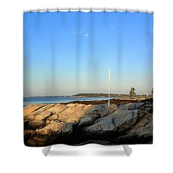 Ocean Point Shower Curtain by Lois Lepisto