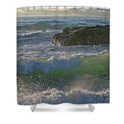 Shower Curtain featuring the photograph Crashing Waves by Elvira Butler