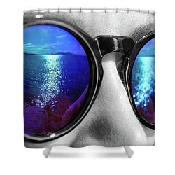 Ocean Reflection Shower Curtain