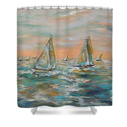 Ocean Regatta Shower Curtain