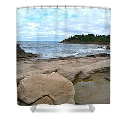 Ocean Rocks - Nova Scotia Shower Curtain
