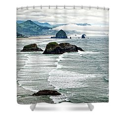 Ocean Rocks Off The Oregon Coast Shower Curtain