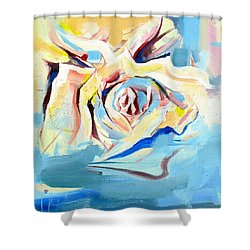 Ocean Rose Shower Curtain by John Jr Gholson