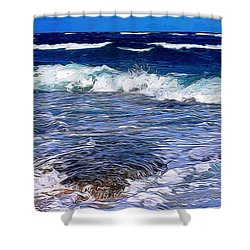 Ocean Scene In Abstract 14 Shower Curtain