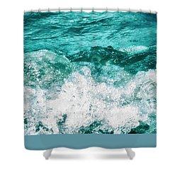 Ocean Splashes Shower Curtain by Wim Lanclus