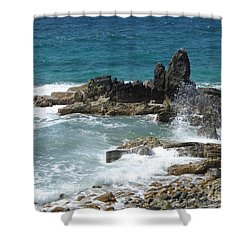 Ocean Spray Mid-air Shower Curtain