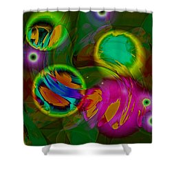 Shower Curtain featuring the digital art Ocean Storm by Lynda Lehmann