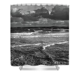 Shower Curtain featuring the photograph Ocean Storms by Nicholas Burningham