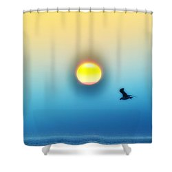 Ocean Sunrise Shower Curtain by Bill Cannon