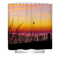 Ocean Sunrise Shower Curtain
