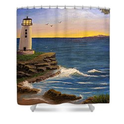 Ocean Sunrise Shower Curtain by Sheri Keith