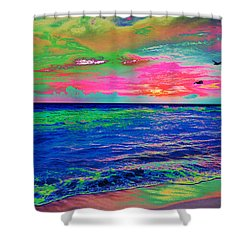 Ocean Sunset 2 Shower Curtain