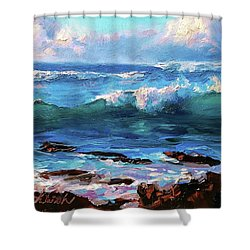 Ocean Sunset At Turtle Bay, Oahu Hawaii Shower Curtain