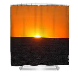 Shower Curtain featuring the photograph Ocean Sunset by Frank Stallone