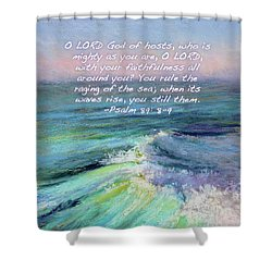 Ocean Symphony With Bible Verse Shower Curtain