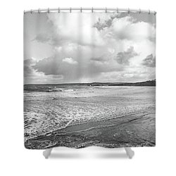 Ocean Texture Study Shower Curtain
